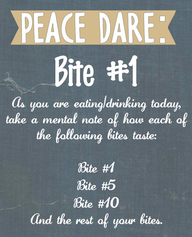 Peace Dare Bite #1h