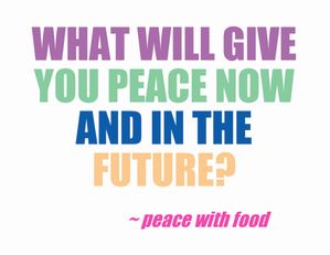 peace now and later