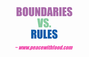 rules and boundaries